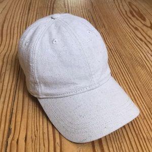 Madewell cotton linen baseball cap hat